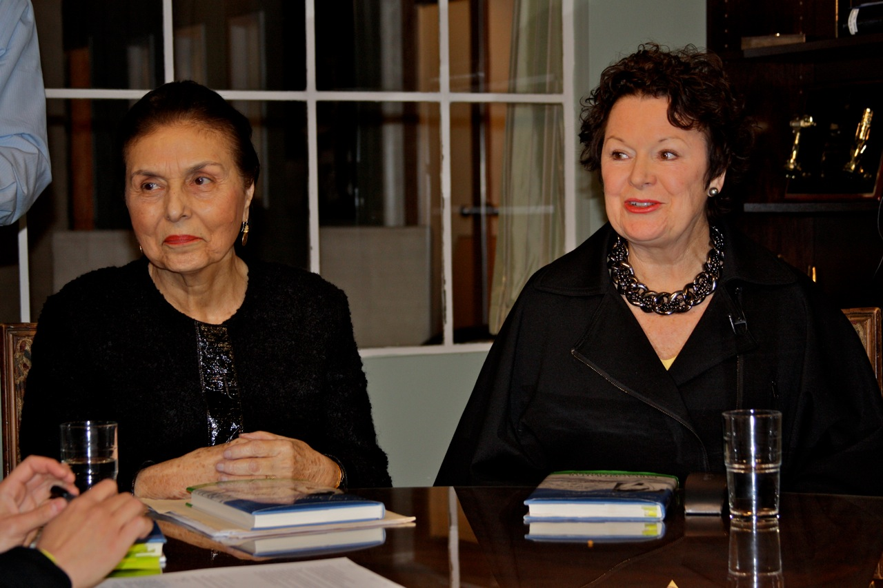 Larson Publications photo of author Parvaneh Bahar with Joan Aghevli