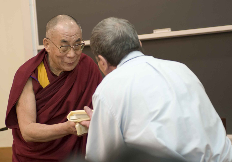 Dalai Lama and Vic Mansfield